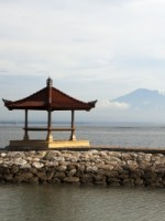 Gazebo at bali indonesia