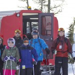 Our group exiting the Powder Stagecoach