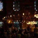 Beautiful lights in the new mosque