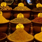 Spices at the spice Bazar in Istanbul