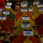 Colourful spices at the bazar in Istanbul